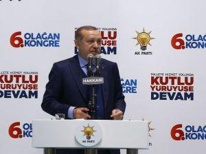 Cumhurbaşkanı Erdoğan, Hakkari 6. Olağan İl Kongresi'nde konuştu