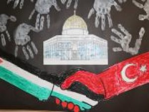 Minik öğrenciler Kudüs'ün resmini ve maketini yaptılar
