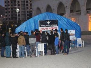 Mardin'deki Kudüs Nöbeti çadırı kaldırıldı