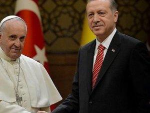 Erdoğan, Kudüs için Papa'yla görüştü!