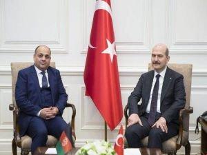 İçişleri Bakanı Soylu Afganistanlı mevkidaşı ile görüştü