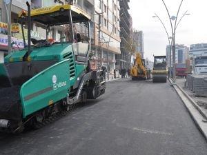 Batman'da belediye ara arteri de asfaltladı