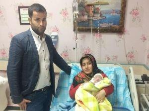 Kızıltepe'de yeni yılın ilk bebeği