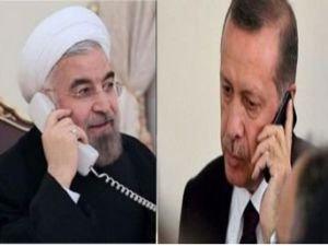 Cumhurbaşkanı Erdoğan ile Ruhani telefonda görüştü