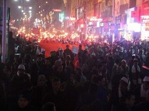 Van'da Sarıkamış Şehitleri için yürüyüş yapıldı