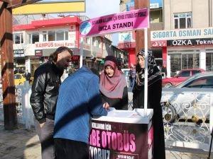 TESSEP'ten pembe otobüs için imza kampanyası