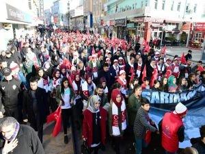Şanlıurfa'da Sarıkamış şehitleri için yürüyüş düzenlendi