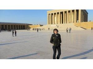 Rus gazeteci Anıtkabir ziyaretinde