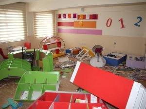 Madde bağımlıları okula büyük çapta zarar verdiler
