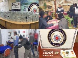 Mardin'de asayiş uygulaması ve uyuşturucu operasyonu