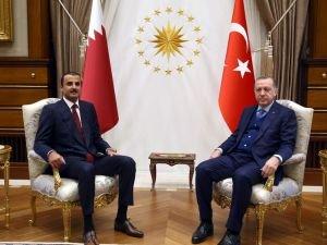 Cumhurbaşkanı Erdoğan, Katar Emiri El Sani ile görüştü