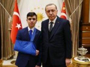 Cumhurbaşkanı Erdoğan Filistinli Cüneydi'yi kabul etti