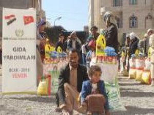 İnsani krizin yaşandığı Yemen'e gıda yardımı