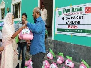 Umut Kervanından Sri Lanka'daki ihtiyaç sahiplerine gıda yardımı