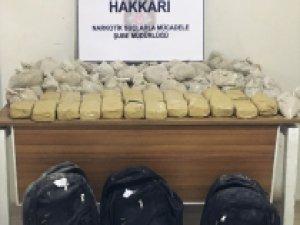 Hakkari'de uyuşturucu ve kaçakçılık operasyonları