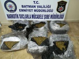 Batman'da 35 kilo esrar ele geçirildi
