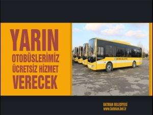 Batman'da yarın otobüsler ücretsiz hizmet verecek