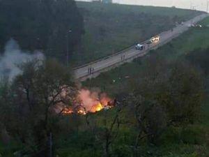 Suriye'de israil uçağı düşürüldü