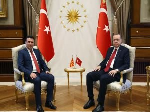 Erdoğan Makedonya Başbakanını kabul etti