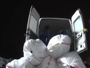 Minibüste 500 kilo esrar ele geçirildi