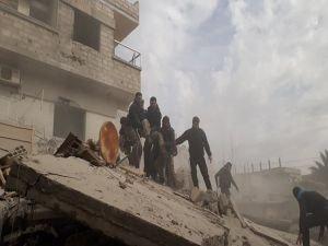 Doğu Guta'da siviller saldırı altında