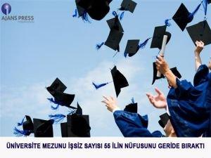 Üniversite mezunu işsiz sayısı 55 ilin nüfusunu geçti
