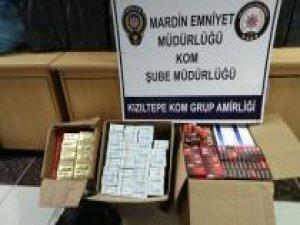Mardin'de gümrük kaçağı sigara ele geçirildi