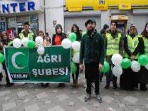Yeşilaycılar bağımlılığa dikkat çekmek için yürüdüler
