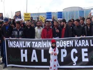 Öğrenciler Halepçe katliamını kınadı
