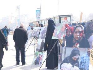 """HÜDA PAR Kadın Kolları: """"Savaş mağduru mazlum kadınların sesi olmak çabasındayız"""""""