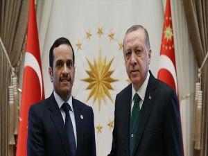 Cumhurbaşkanı Erdoğan, Katar Dışişleri Bakanı El Sani'yi kabul etti