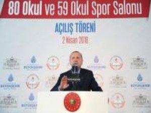 Erdoğan: Eğitimde istediğimiz seviyeye henüz ulaşamadık
