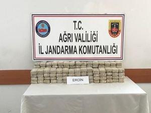 Ağrı'da 71 kilo eroin ele geçirildi