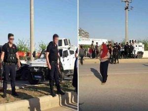 Zırhlı aracın çarptığı anne ve oğlu yaralandı