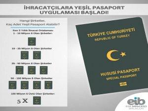 Ege İhracatçı Birlikleri üyesi 568 ihracatçı yeşil pasaport sahibi oldu