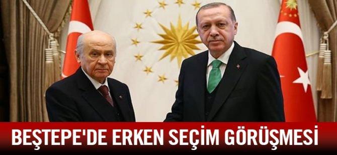 Erdoğan-Bahçeli görüşmesi başladı!