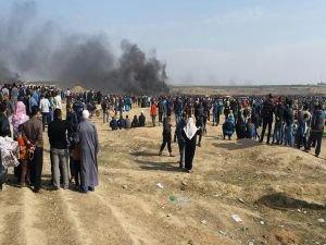 Filistin'de 4 şehit 350 yaralı