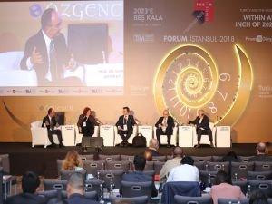 Forum İstanbul 2018'de 'Geleceğin Ekonomi ve Finans Sisteminde Neler Olacak?' oturumu