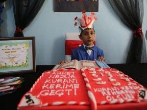 5 yaşındaki çocuk 25 günde Kur'an'a geçti