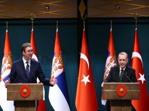 Cumhurbaşkanı Erdoğan, Vuçiç ile ortak basın toplantısı düzenledi