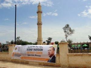 Erdoğan, Zeynel Abidin Camisi'nin açılışına bağlandı
