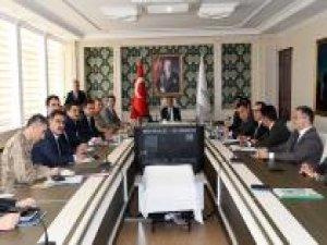 Adıyaman'da seçim güvenliği toplantısı yapıldı