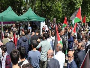 İstanbul'da Büyük Felaket Nekbe protestosu