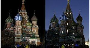 Moskova ışıklarını söndürdü
