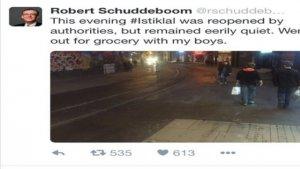 """Robert Schuddeboom: """"İstiklal'de geziyorum"""" tweeti"""