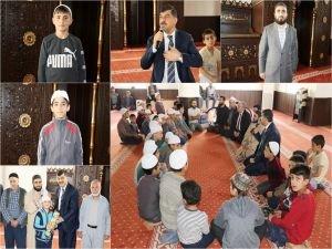 Camiye devam eden çocuklar ödüllendirildi
