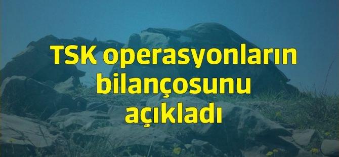 """TSK'dan """"Haftalık Operasyon"""" Açıklaması!"""