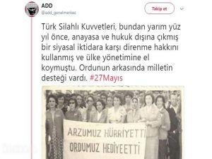 27 Mayıs askeri darbesini öven ADD'ye soruşturma