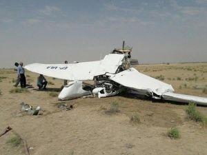 Tahran'da eğitim uçağı düştü