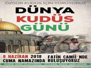 Kudüs için kitlesel basın açıklamasına davet